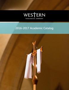 2016-17 Academic Catalog